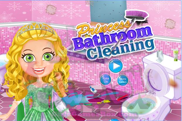 لعبة اللاميرة الحمام تنظيف العاب دييكور