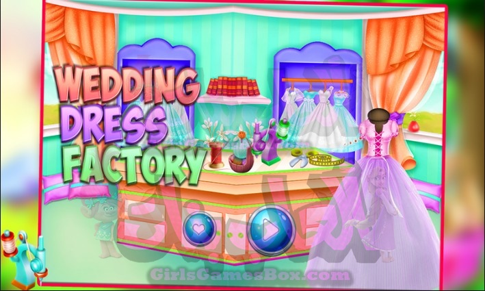 لعبه فستان الزفاف مصنع خياط العاب بنات ستايل