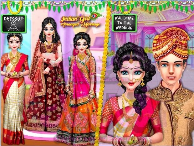 لعبة فتاة هندية ترتيب الزواج - محاكي الزفاف العاب تلبيس