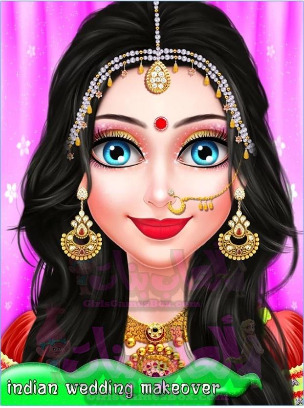 لعبة الهندي صالون سوبر صالون - الزفاف الهندي العاب تلبيس