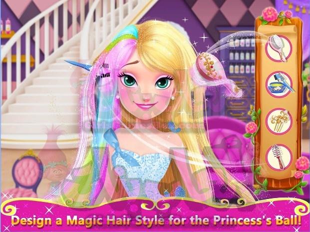 لعبه الشعر الطويل الأميرة 2 صالون الملكي بروم العاب بنات ستايل