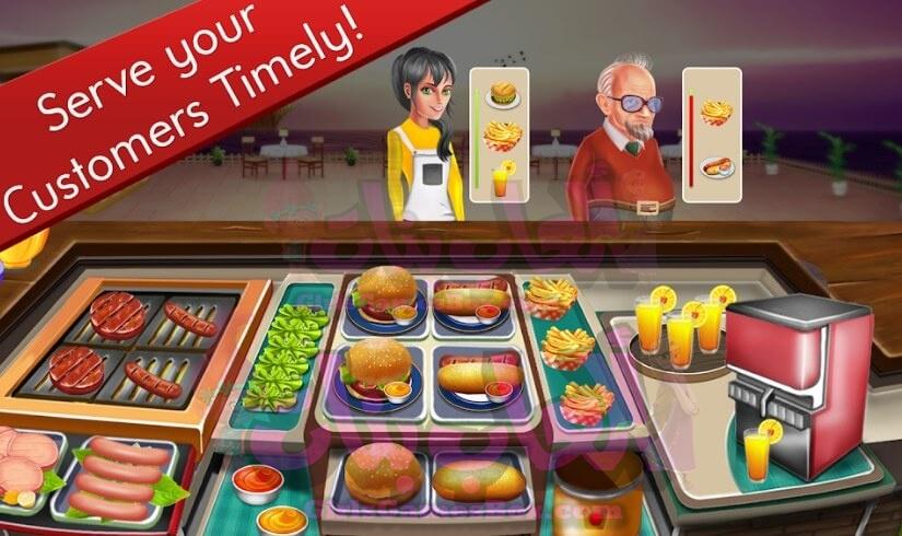 لعبة مطعم الشيف